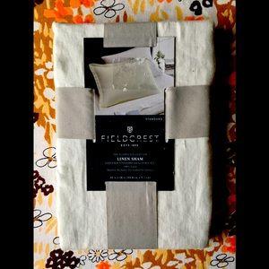 Fieldcrest Flores Collection Linen Sham (1)